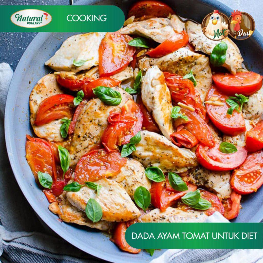 Resep Dada Ayam Diet dengan Tomat