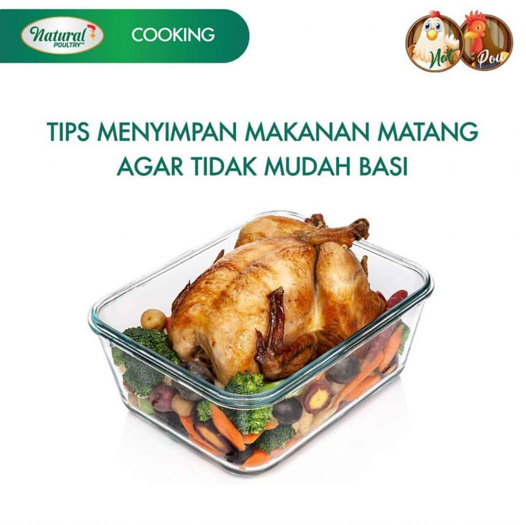 tips simpan makanan matang agar tidak basi