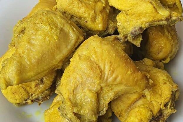 gambar resep ayam ungkep kuning